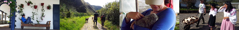 Volunteers pictures - images of volunteers in rural Ecuador with the Galo Plaza Lasso Foundation